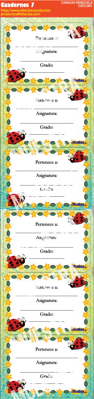 Productos etiquetas y stikers para cuadernos www for Calcomanias para pared infantiles